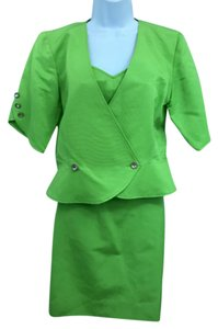 Emanuel Ungaro Ungaro Apple Green 3-Pc. Skirt Suit 4