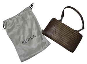 Furla Furla Faux Alligator Zippered Wallet With Handle