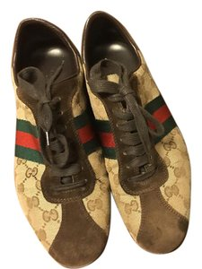 Gucci Monogram Brown and Beige (Red/Green) Athletic
