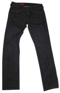 AG Adriano Goldschmied Gold Trim Classic Dark Rinse Straight Leg Jeans