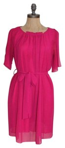 Collective Concepts Fuchsia Summer Belted Dress