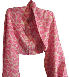 Cashmere Pashmina Group Pink Scarf with glitters flowers