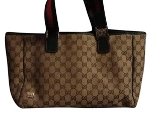 Gucci Tote in Beige & Dark Green Tote bag