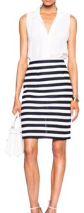 Diane von Furstenberg Skirt Navy Blue & White
