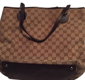 Gucci Tote in brown canvas