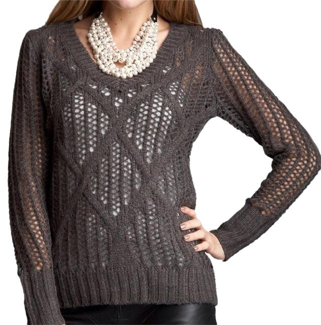 Preload https://img-static.tradesy.com/item/2116332/romeo-and-juliet-couture-new-chrochet-mod-size-medium-charcoal-sweater-0-2-650-650.jpg