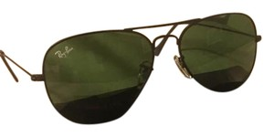 Ray-Ban Ray Ban Aviator Sunglasses Rb3025 Black Frame 58mm Green Lens
