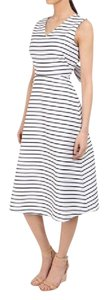 white and navy Maxi Dress by Kate Spade