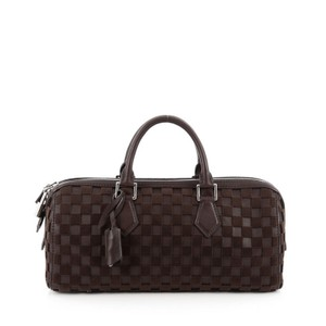 Louis Vuitton Speedy Cube Damier Leather Satchel