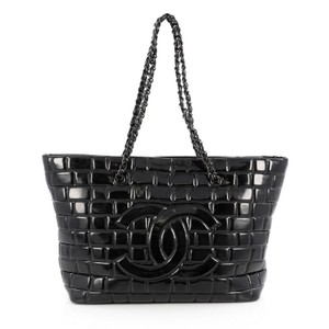 Chanel Vinyl Tote in Black