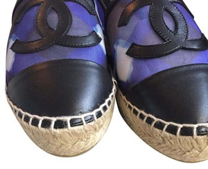 Chanel Espadrilles Size 36 Brand New Espadrilles Black and blue Flats