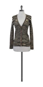 Magaschoni Blue Yellow Snakeskin Print Sweater
