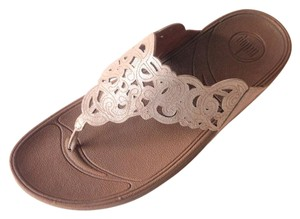 38b0e0d77 FitFlop Thong Floral Suede Nude Sandals. FitFlop Nude New with Tags Flora  Suede Flip Flops Sandals Size US 8 Regular (M ...