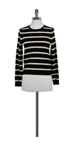 Alice + Olivia Black White Striped Sweater