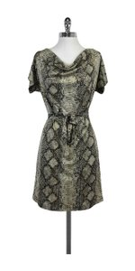 Grayse short dress Metallic Cowl Neck Snake Print on Tradesy