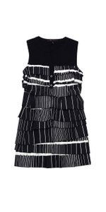 BCBGMAXAZRIA short dress Black White Tiered Shift on Tradesy