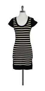 French Connection short dress Black & White Bodycon Striped on Tradesy