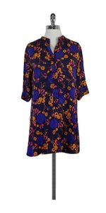Tucker short dress Printed Silk on Tradesy
