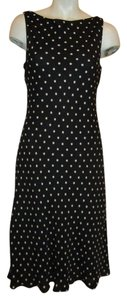 Jones New York Silk Polka Dot Dress