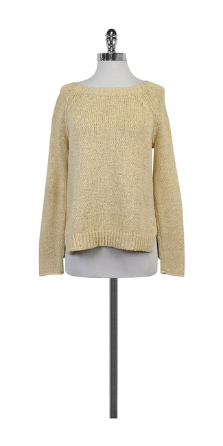 Preload https://img-static.tradesy.com/item/21164339/vince-cream-chunky-knit-cotton-blend-sweaterpullover-size-4-s-0-0-650-650.jpg