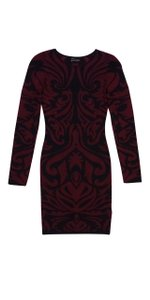 Torn by Ronny Kobo short dress Black & Red Printed on Tradesy