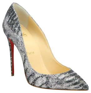 Christian Louboutin silver/black Pumps