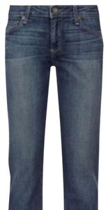 Paige Denim Capri/Cropped Denim-Dark Rinse