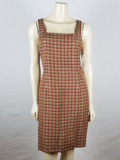 Rena Rowan 2 Piece Plaid Size 8 Dress