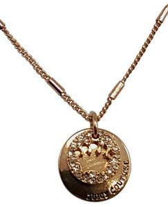 Juicy Couture Ravishing Juicy Couture Disk Charm Gold Plated Necklace