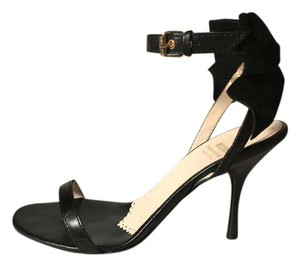 Moschino Leather Black Sandals