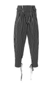 Isabel Marant Capri/Cropped Pants Black with stripes
