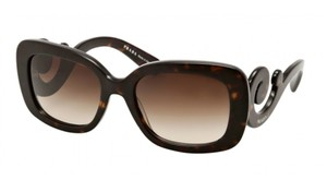Prada NWT PRADA SQUARE BAROQUE SUNGLASSES SPR 27O 2AU-6S1 BROWN $300 W CASE
