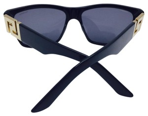 Versace Versace Black and Gold Polarized Square Sunglasses MOD. 4296 GB1/81 59