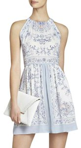BCBGMAXAZRIA short dress Georgette Crepe Print Halter on Tradesy