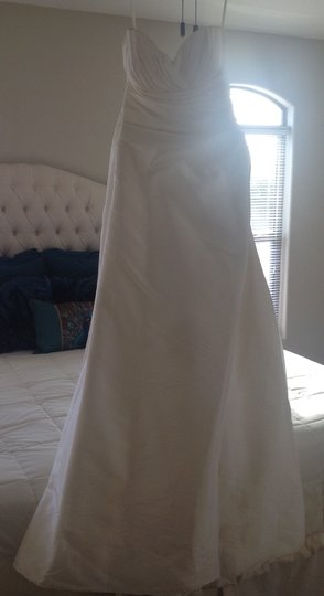 Casablanca Ivory Taffeta Wedding Dress Size 10 (M)