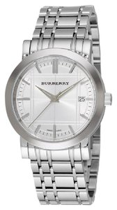 Burberry Brand New Burberry Heritage Silver Dial Bracelet Mens Watch BU1350