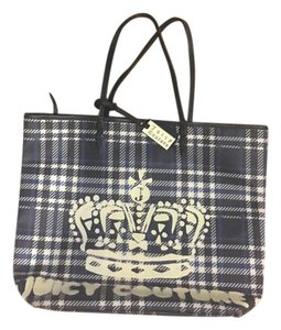 Juicy Couture Tote in blue plaid