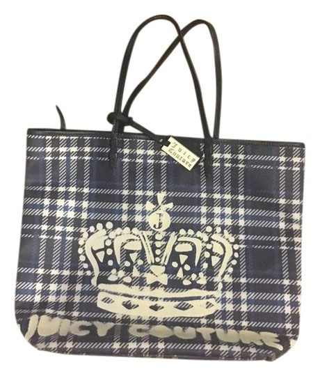 Preload https://img-static.tradesy.com/item/21164746/juicy-couture-blue-plaid-coated-canvas-with-leather-trim-and-leather-handles-tote-0-1-540-540.jpg