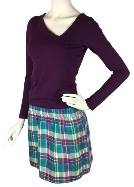 Preload https://img-static.tradesy.com/item/21164861/mossimo-supply-co-purple-and-blue-plaid-pull-on-skirt-size-4-s-27-0-5-650-650.jpg
