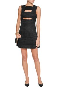 self-portrait Cut-out Mesh Dress