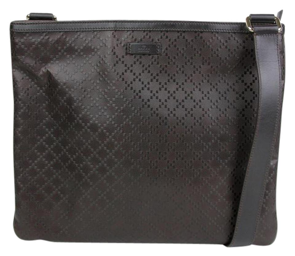 2d0a83fbe073bf Gucci Hilary Lux Diamante 201446 2044 Dark Brown Leather Messenger ...