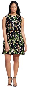 Victoria Beckham for Target short dress Black Floral Day To Night Easter on Tradesy