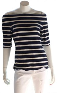 INC International Concepts Top navy blue white