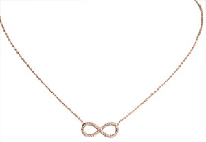 Other CZ Rose Gold Infinity Necklace