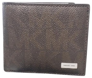 Michael Kors MICHAEL KORS MEN'S JET SET LOGO BROWN BILLFOLD WALLET Gift Box