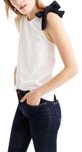 J.Crew Geniune Bow Top White