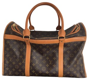 Louis Vuitton Dog Carrier Neverfull Totally Brown Travel Bag