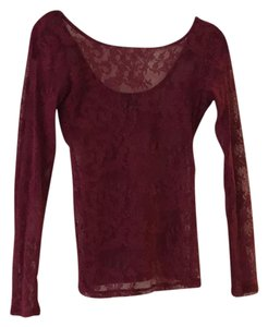 Ella Moss Lace Top burgundy