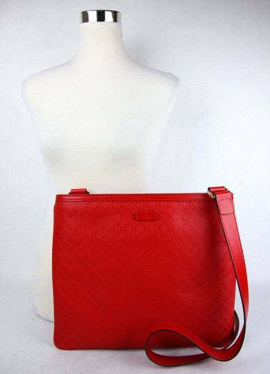Gucci Hilary Lux Diamante Leather Red Messenger Bag