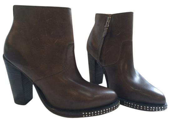 The Office of Angela Scott Leather Studded Brown Boots